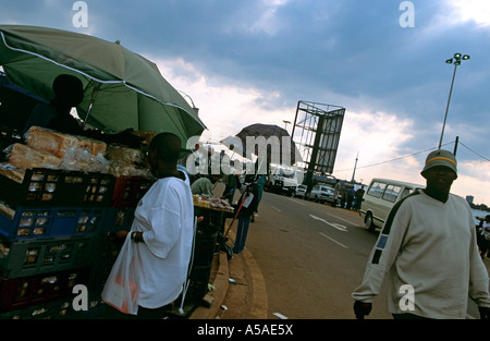 A bakery stall at a street market in Johannesburg - Stock Photo