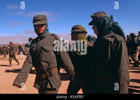 Female Polisario fighters in Tindouf Western Algeria - Stock Photo