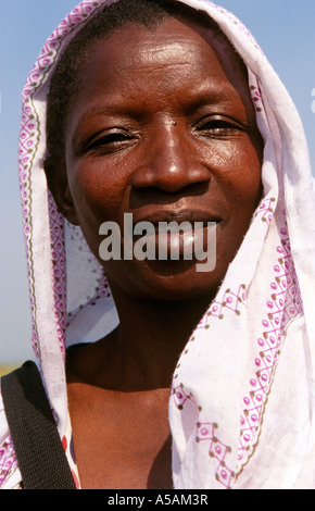 A portrait of an African woman Western Uganda Africa - Stock Photo