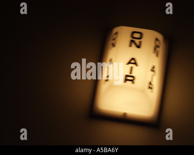 On air warning sign. - Stock Photo