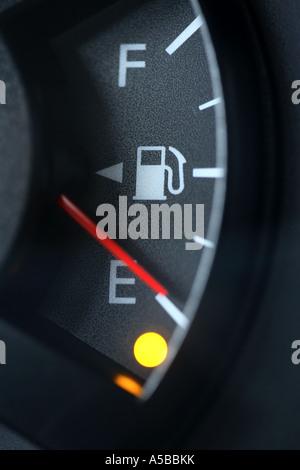 Gas gauge on Empty - Stock Photo