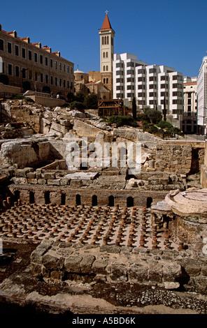 Roman ruins, Beirut, Lebanon - Stock Photo