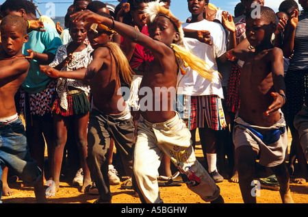 Traditional zulu dancers South Africa  - Stock Photo