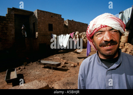 A man living in the lost city of Aleppo Syria - Stock Photo