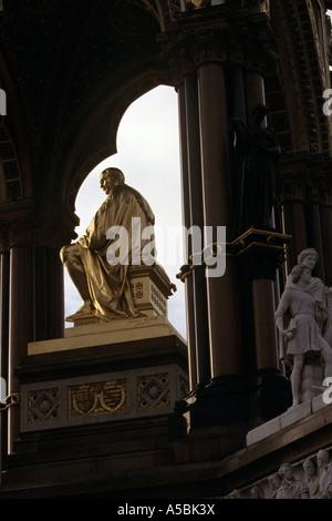 The Albert Memorial in Hyde park London - Stock Photo