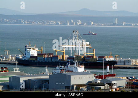 Port of Cape Town South Africa Safmarine Gonubie container ship - Stock Photo
