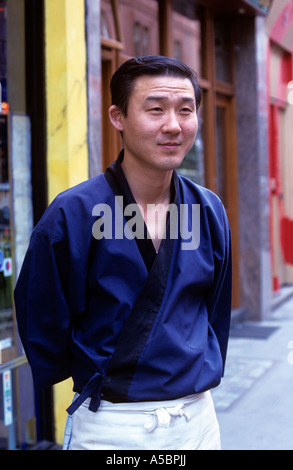 A Chinese man in China town London - Stock Photo