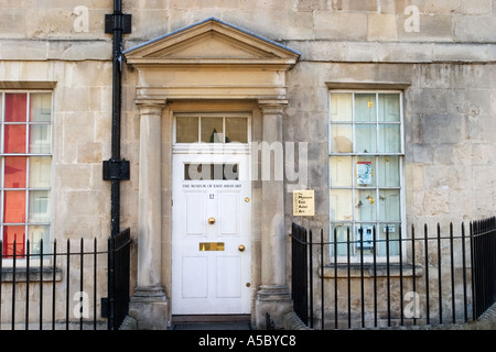 Museum of East Asian Art in Bennet Street near The Circus Bath England - Stock Photo