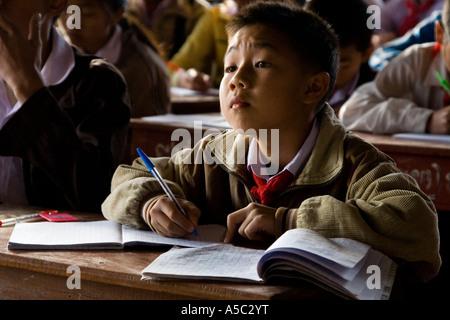 Young Students Taking Notes Hongsa Laos - Stock Photo