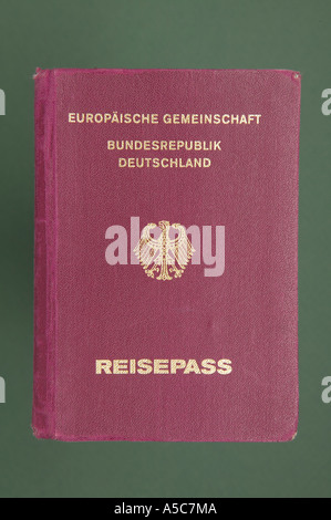 Passport of the Federal Republic of Germany - Stock Photo