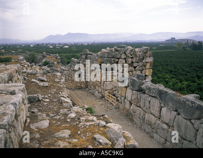 Ancient ruins of Tiryns Greece - Stock Photo