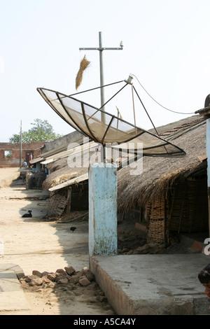 Satellite Dish In Tribal Village Of Podbi Arunachal