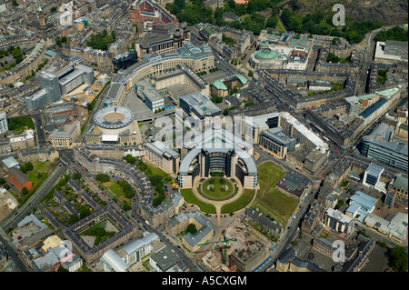 Edinburgh financial centre Photograph shows Scottish Widows Headquarters building in foreground looking north down - Stock Photo