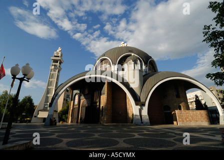 FYROM Republic of Macedonia. SKOPJE St Clement of Ohrid Skopje's cathedral. - Stock Photo