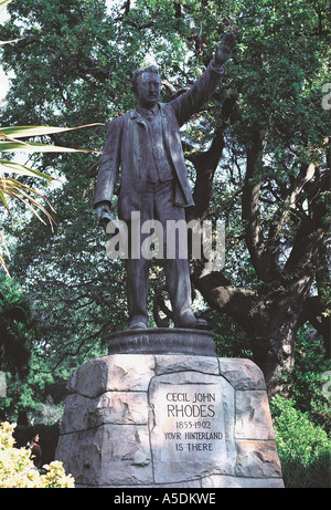 Statue of Cecil John Rhodes in the grounds of the South African Museum Cape Town South Africa - Stock Photo