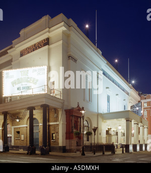 Theatre Royal Drury Lane in London at Night, Playing 'The Producers' - Stock Photo