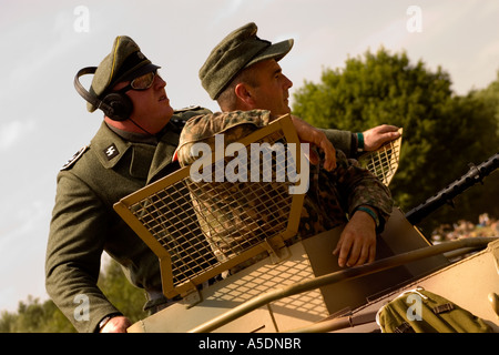 WWII re enactment armoured division in Kent - Stock Photo