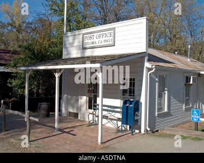 Coloma California Post Office sight of the California Gold strike, Marshall State Park - Stock Photo