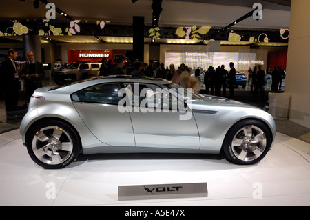 The Chevrolet Volt plug-in hybrid car at the North American International Auto Show, 2007 - Stock Photo