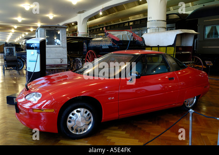 1997 General Motors EV1 electric car at the Henry Ford Museum in Dearborn Michigan - Stock Photo