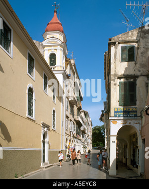 Old Town, Corfu Town, Corfu (Kerkyra), Ionian Islands, Greece - Stock Photo