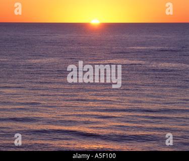 Sunset over Lake Superior - Stock Photo