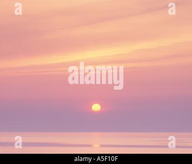 Dawn over Lake Michigan - Stock Photo