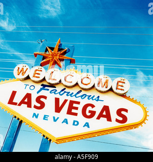 Welcome sign in Las Vegas Neveda USA