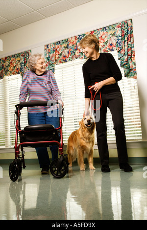 Woman in retirement center. - Stock Photo