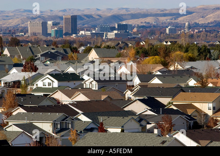 Housing developments contribute to urban sprawl in Boise Idaho - Stock Photo