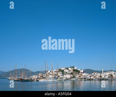 Harbour and Old Town, Marmaris, Turkey - Stock Photo