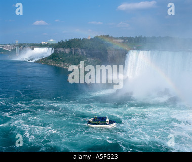 Maid of the Mist Cruise Boat, Niagara Falls, Ontario, Canada - Stock Photo