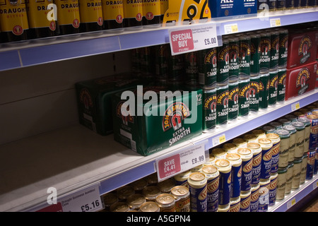 Alcohol on sale in supermarket - Stock Photo