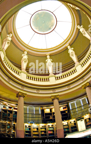 Paris France 'Guimet Museum' Interior 'Asian Arts Museum' dome in Library 'architectural mouldings' - Stock Photo