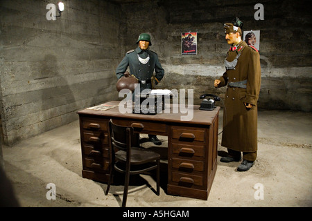 HUNGARY Budapest Wax figures from Nazi bunker in Citadella on Gellert hegy display of historic events during World - Stock Photo