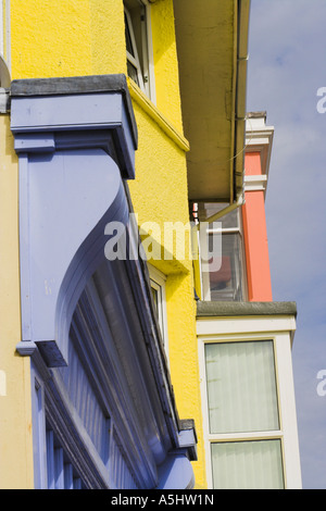 Painted shopfront in Aberdovey - Stock Photo