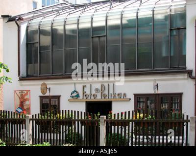 store front of the Pelikan museum studio of the photograph Josip Pelikan in Celje Slovenia - Stock Photo