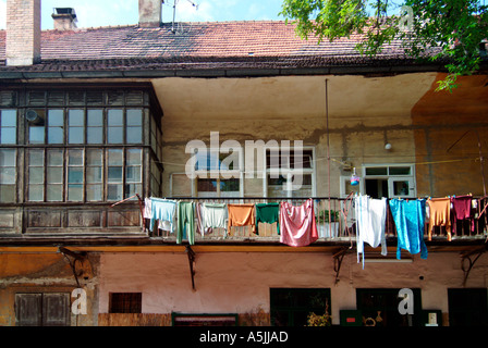 inner courtyard in the old town of Maribor Slovenia - Stock Photo