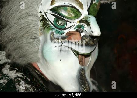 Masked Band Member Inferno Ski Race - Stock Photo