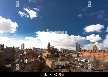 Ancoats Panorama looking south towards Manchester City Centre UK March 2007 - Stock Photo