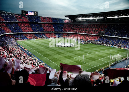 Mosaic before the Barça - Milan Game. Champions League semi-finals - Stock Photo
