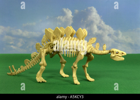 The Stegosaurus is called also plate lizard and in the jurassic period occurred. Its length amounted to approx. - Stock Photo