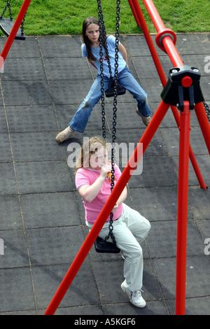 girl on swing above - photo #37