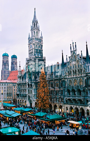 Munich, Maria Marien Square, Christmas Fair, Christmas Market - Stock Photo