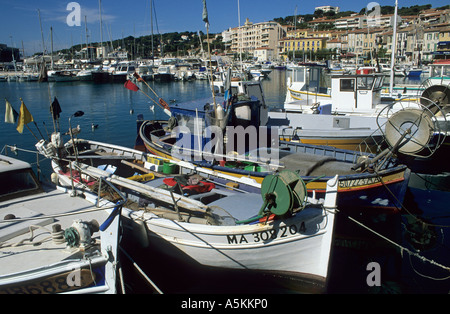 Boats in the harbour of Cassis, Provence, France - Stock Photo