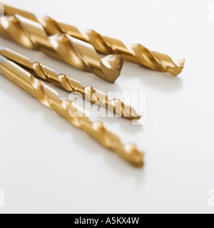 Close up of assorted drill bits - Stock Photo