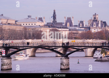 Pont des Arts. Pont Neuf. City Hall. Paris. France. - Stock Photo