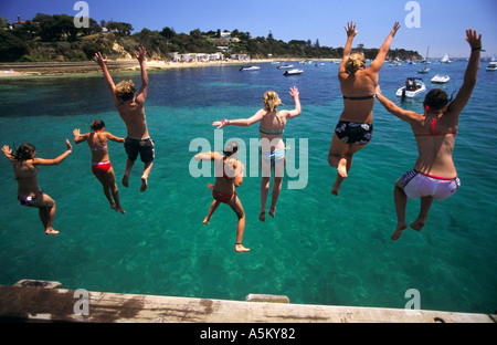Summer holiday fun Australia - Stock Photo
