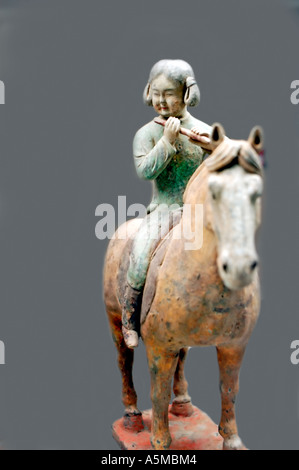 Paris France, Ancient Chinese Sculpture in 'Musee Cernusci' 'Asian Arts Museum' - Stock Photo