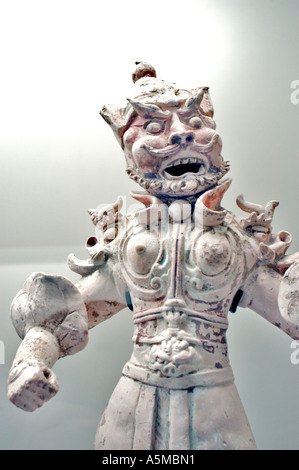 Paris France, Ancient 'Chinese Sculpture' in 'Musee Cernusci' 'Asian Arts Museum' 'Chinese Warrior' Art - Stock Photo